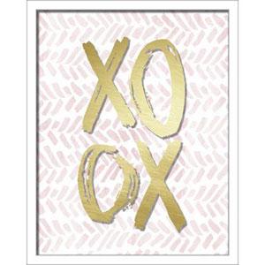 Xoxo Brush Strokes 16 x 20 In. Shadowbox Wall Art