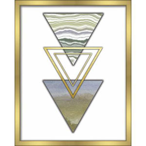 3 Triangles Blue 16 x 20 In. Shadowbox Wall Art