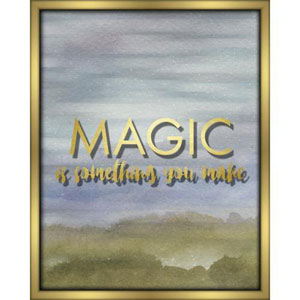 Magic Is Something You Make Blue 16 x 20 In. Shadowbox Wall Art