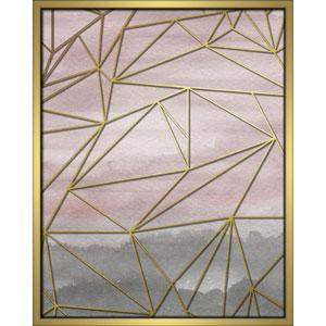 Fractal Watercolor Blush 16 x 20 In. Shadowbox Wall Art