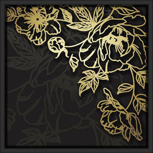 Layered Floral 18in. x 18in. Shadowbox Wall Art