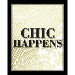 Chic Happens 8 x 10 In. Shadowbox Wall Art
