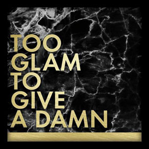 Too Glam To Give A Damn 10 In. Shadowbox Wall Art