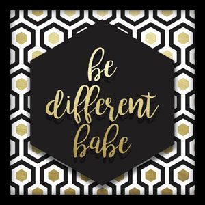 Be Different Babe 10 In. Shadowbox Wall Art