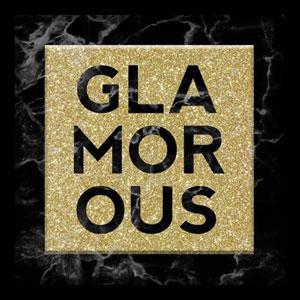 Glamorous Black Marble 10 In. Shadowbox Wall Art