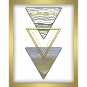 3 Triangles Blue 8 x 10 In. Shadowbox Wall Art