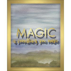 Magic Is Something You Make Blue 8 x 10 In. Shadowbox Wall Art