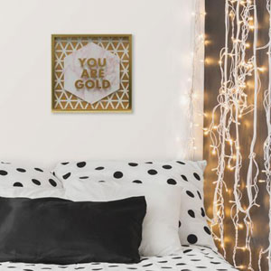 You Are Gold 10 In. Shadowbox Wall Art