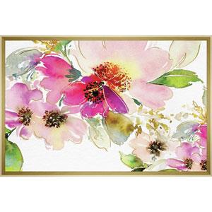 Watercolor Peonies 30in. x 20in. Framed Wall Art