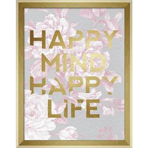 Happy Mind Happy Life 11 x 14 In. Framed Wall Art