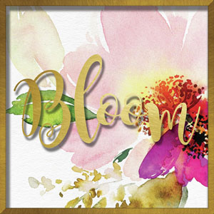 Bloom Watercolor Peony 16 In. Shadowbox Wall Art
