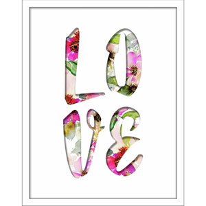 Love Filled Word 11 x 14 In. Shadowbox Wall Art