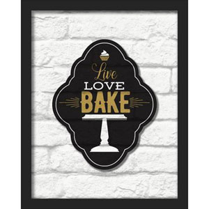 Live Love Bake 16 x 20 In. Shadowbox Wall Art