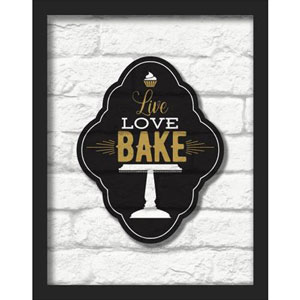 Live Love Bake 11 x 14 In. Shadowbox Wall Art