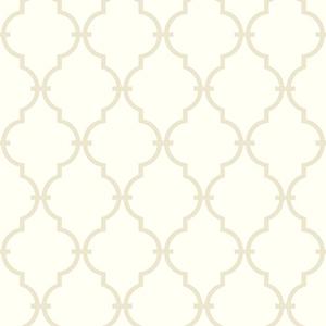 Ashford Black, Warm White and Tan Wallpaper