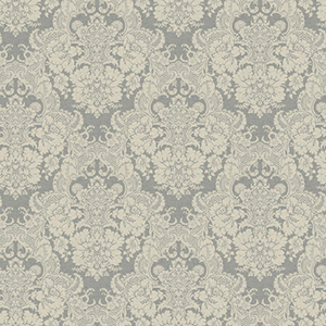 Ashford Black, White Pale Gray and Cream Wallpaper