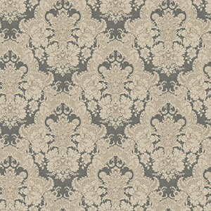 Ashford Black, White Charcoal and Light Brown Wallpaper
