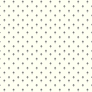 Ashford White and Black Ditsy Wallpaper
