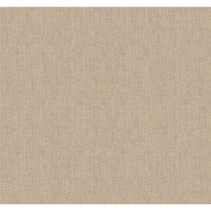 Elegance Gold Tone and Hint Of Blue and Taupe Raised Linen Texture Wallpaper: Sample Swatch Only