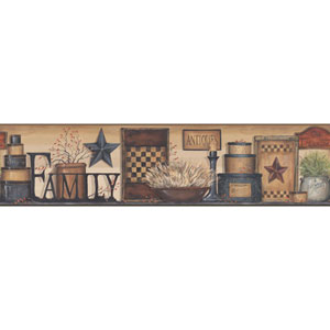 Country Keepsakes Multicolor Family Shelf Border