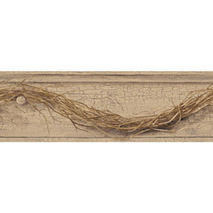 Country Keepsakes Beige and Brown Grapevine Twig Border