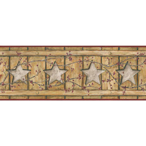 Country Keepsakes Ecru and Gold Country Cutout Star Border