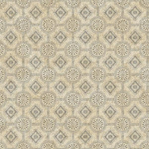 Country Keepsakes Beige and Taupe Punched Tin Wallpaper
