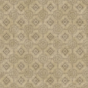 Country Keepsakes Taupe and Dark Brown Punched Tin Wallpaper