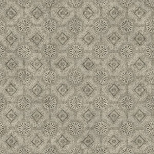Country Keepsakes Grey and Black Punched Tin Wallpaper