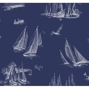 By The Sea Sailboat toile Wallpaper