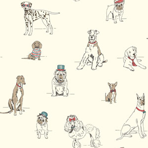 Ashford Toiles Dogs Life Removable Wallpaper