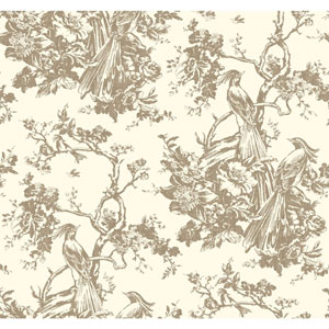 Ashford Toiles Exotic Plumes Removable Wallpaper