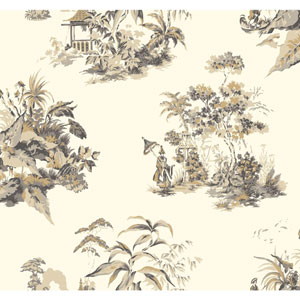 Ashford Toiles Oriental Scenic Removable Wallpaper