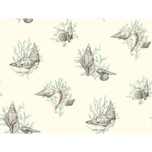 Ashford Toiles Shell Toile Removable Wallpaper