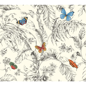 Ashford Toiles Papillion Removable Wallpaper
