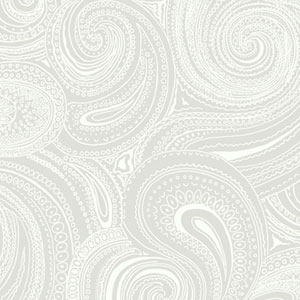 Silhouettes Swirling Paisley Wallpaper