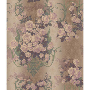 Charleston Multicolor Bouquet Damask Wallpaper