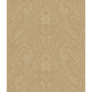 Charleston Gold Paisley Texture Wallpaper