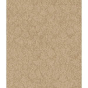Charleston Gold and Tan Ombre Damask Texture Wallpaper