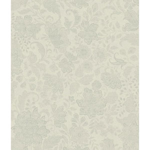 Charleston Pearl Beige and Light Grey Brushstroke Canvas Wallpaper