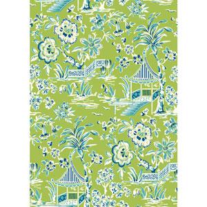 Ashford House Tropics Green and Blue Tahiti Scenic Wallpaper