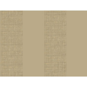 Ashford House Tropics Tan and Grey Grasscloth Stripe Wallpaper