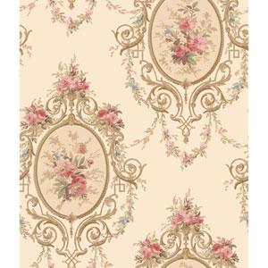 120th Anniversary Off White and Ecru Neoclassic Cameo Wallpaper