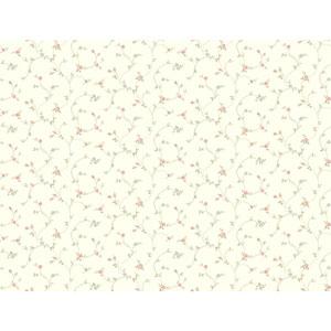 120th Anniversary White Rose Toss Wallpaper
