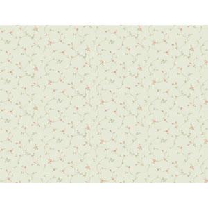 120th Anniversary Pale Aqua Rose Toss Wallpaper