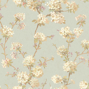 120th Anniversary Light Blue and White Cherry Blossom Wallpaper