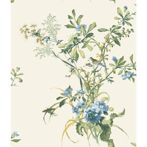 120th Anniversary Cream Wild Flowers Wallpaper