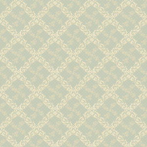120th Anniversary Light Aqua and Cream Shadow Trellis Wallpaper