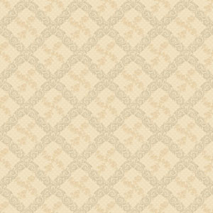 120th Anniversary Beige and Gold Shadow Trellis Wallpaper