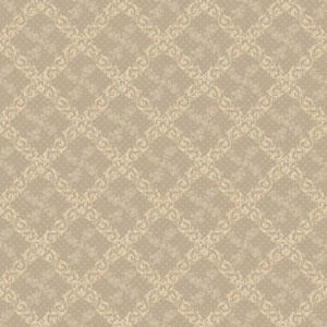 120th Anniversary Light Grey and Cream Shadow Trellis Wallpaper